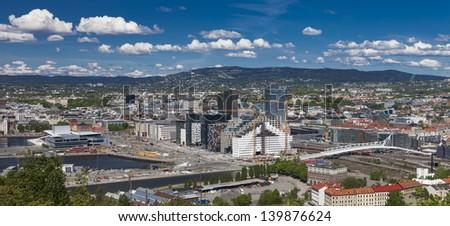 Oslo, Centrum, Bj���¸rvika Norway - stock photo
