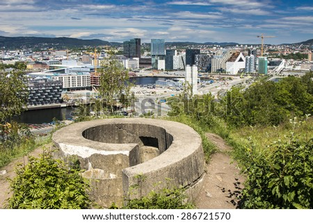 Oslo, Downtown, Bjoervia Norway - stock photo