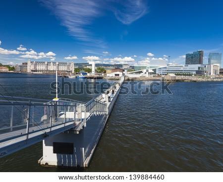 Oslo Harbor - Norway - stock photo