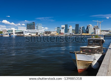 Oslo Harbor - Norway - stock photo