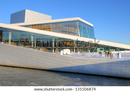 OSLO - JULY 14: Exterior of the Oslo Opera House July 14, 2009 in Oslo, Norway