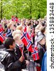 OSLO - MAY 17: Norwegian Constitution Day is the National Day of Norway and is an official national holiday observed on May 17 each year. Pictured on May 17, 2012 - stock photo