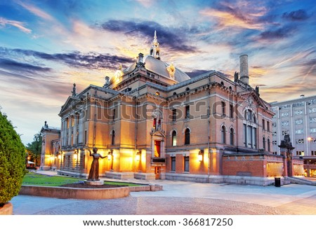Oslo - National theater, Norway - stock photo