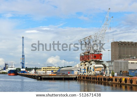 OSLO, NORWAY - JULY 13, 2016:Filipstadkaia is well-equipped terminal in central location on Filipstad quay in Oslo