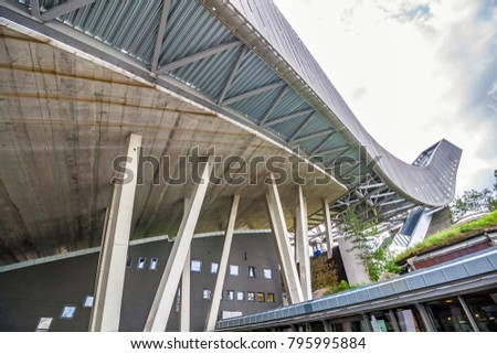 Oslo, Norway - June 15, 2015: Holmenkollen ski jump located in Oslo, Norway