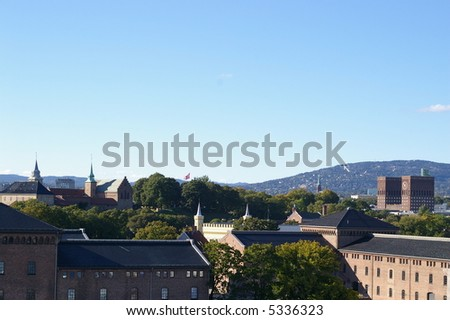 Oslo skyline - stock photo