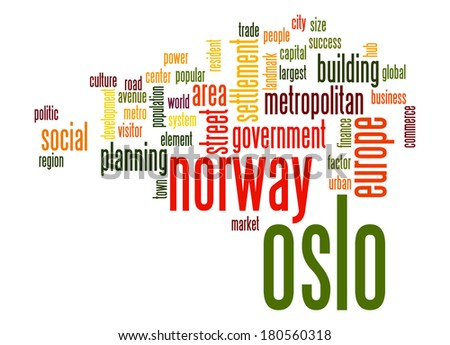 Oslo word cloud - stock photo