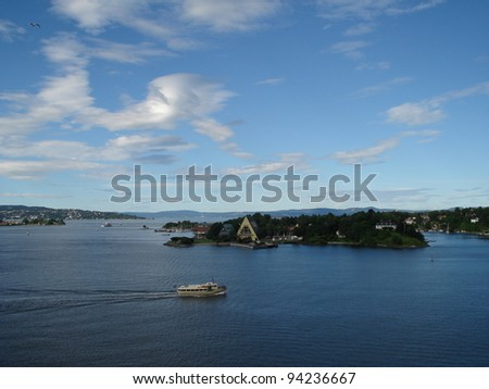 Oslofjord - stock photo