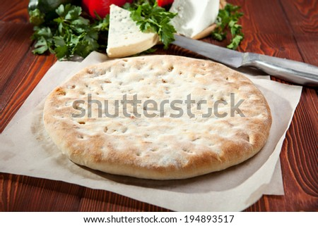 Ossetian Pie with Chicken and Mushrooms