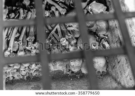Ossuary - stock photo