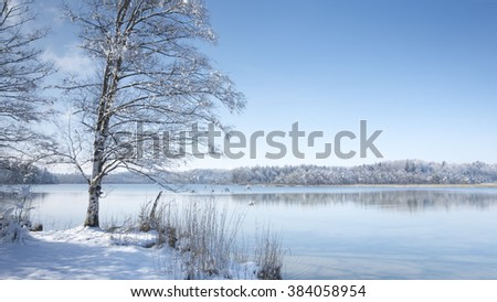 Osterseen winter scenery