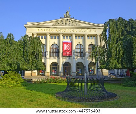 OSTRAVA, CZECH REPUBLIC - JUNE 23, 2016: Antonin Dvorak Theatre on June 23, 2016. National Moravian-Silesian theatre in city center