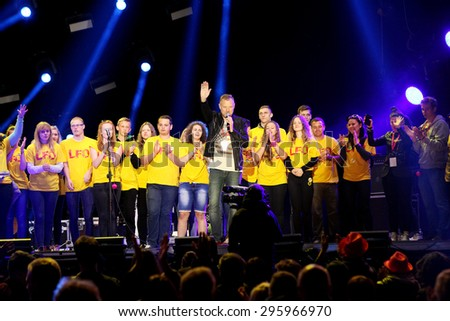 Oswiecim, Poland - June 20 2015:  British reggae band UB40 play at the Life Festival  in Oswiecim, Poland