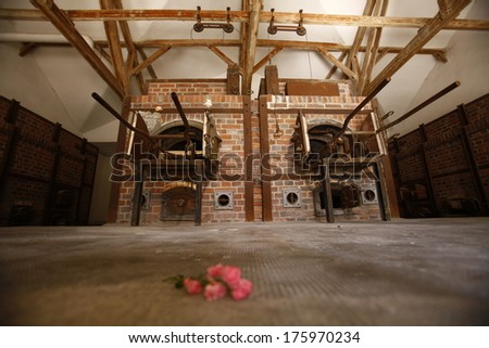 OSWIECIM, POLAND - OCTOBER 25: The crematorium in Auschwitz I, a former Nazi extermination camp on October 25, 2013 in Oswiecim, Poland. It was the biggest nazi concentration camp in Europe.