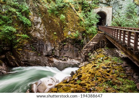 Othello Tunnels at Coquihalla Canyon Provincial Park, British Columbia