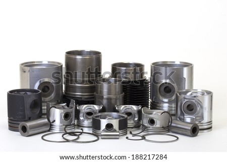 otomobil spare parts - stock photo