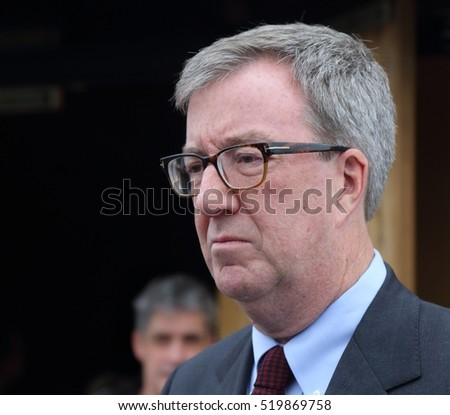 OTTAWA, CANADA - NOVEMBER 19, 2016: Jim Watson is Mayor of the City of Ottawa.