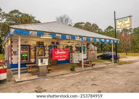 Otter creek florida january 15 2015 stock photo 253784959 for Old fashioned general store near me