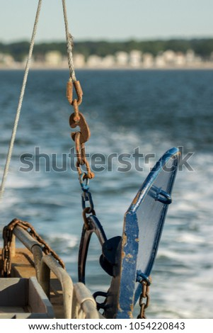 Otter trawl door blue & Otter Trawl Door Blue Stock Photo (100% Legal Protection) 1054220843 ...