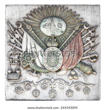 Ottoman Empire Emblem at Topkapi Palace - stock photo