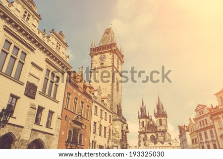 Our Lady Before Tyn Church in Prague - stock photo