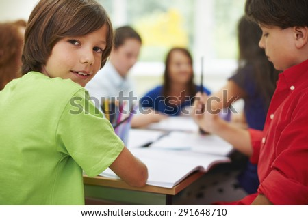 Our lessons are really cool - stock photo