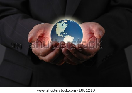 Our planet earth is in our hands - stock photo