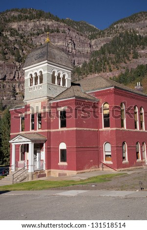 Ouray County Courthouse, Ouray, CO - stock photo