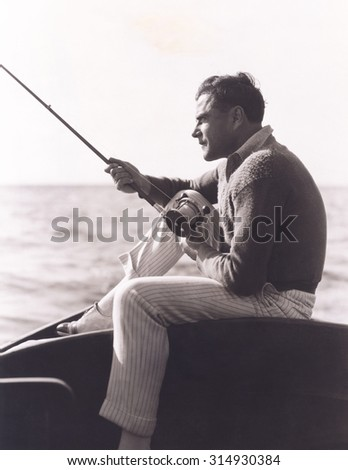 Out fishing - stock photo