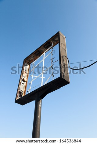 out of business sign - stock photo