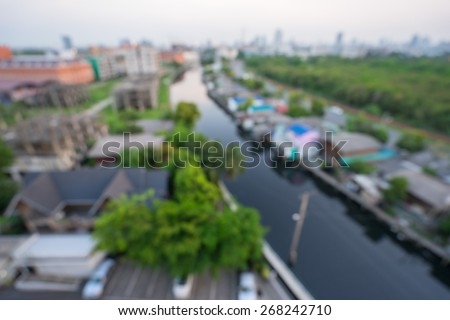 Out of focus background - river landscape - stock photo