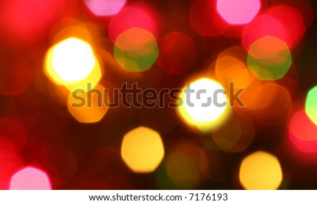 Out of focus Christmas lights - stock photo