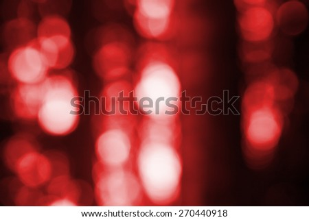 Out of focus lights in forest. defocused blurry bokeh background. - stock photo