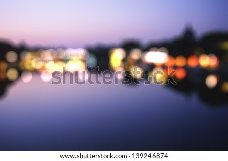 Out-of-focus shimmering city background of Paris, France - stock photo