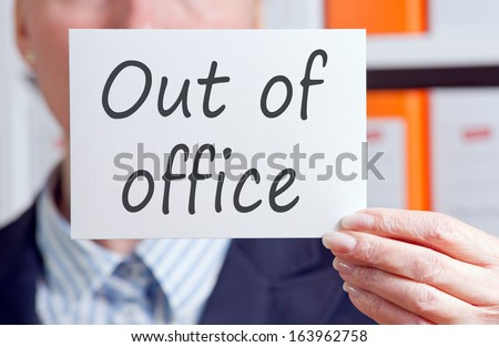 Out of Office - stock photo