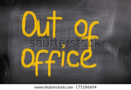 Out Of Office Concept - stock photo