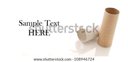 Out of Toilet Paper - stock photo