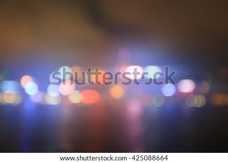out off focus  from high building and big city  - stock photo