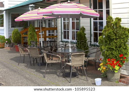 Outdoor accomodation, cafe and pastry service, Florence OR.