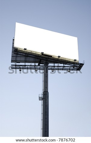 Outdoor advertising - stock photo