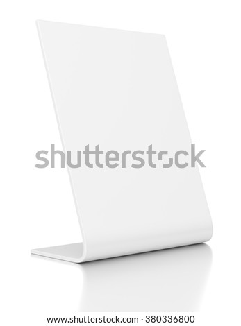 Outdoor advertising POS POI stand banner or desktop nameplate isolated on white background. - stock photo