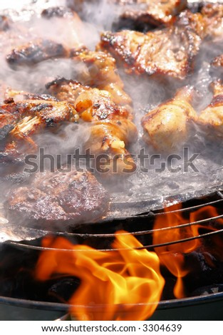 Outdoor Barbecue Grill - stock photo