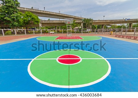 outdoor basketball court in public park