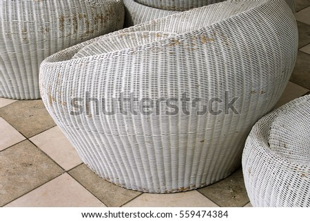 outdoor beach resort balinese rattan wooden straw furniture coffee tea chairs stools tables