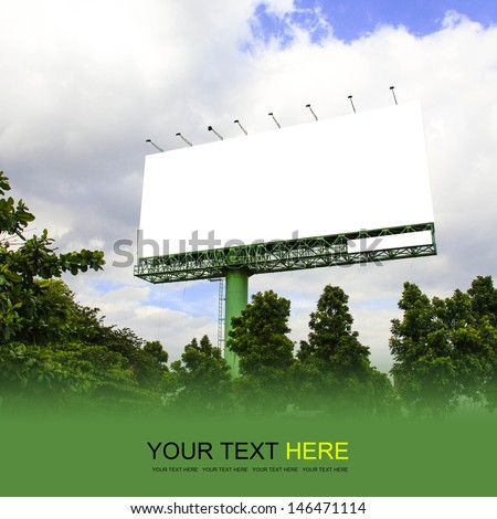 Outdoor billboard - stock photo