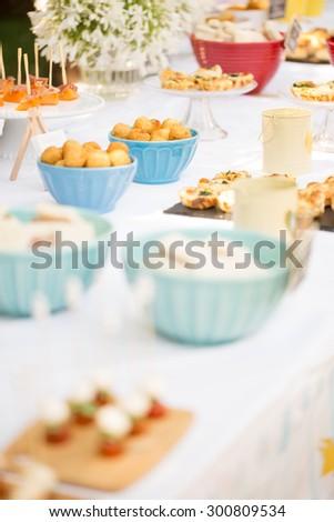 Outdoor Buffet - stock photo