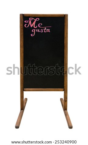 Outdoor chalkboard for menu - stock photo