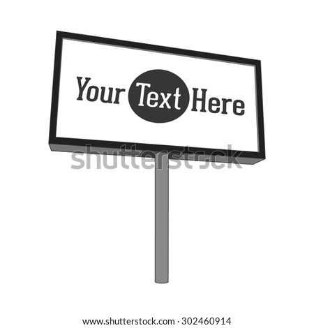 Outdoor commercial Stand with blank Panel for your Advertising. Illustration - stock photo