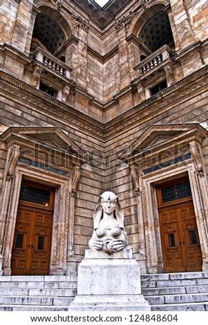 Outdoor detail of the Opera House in Budapest, Budapest, Hungary - stock photo