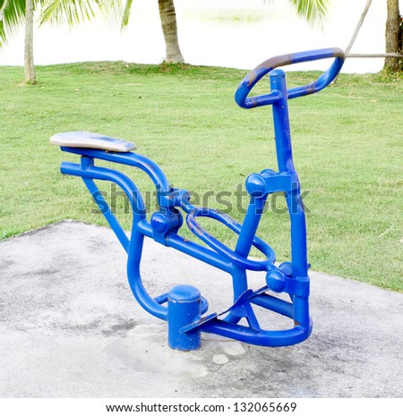 outdoor exercise machine in the park